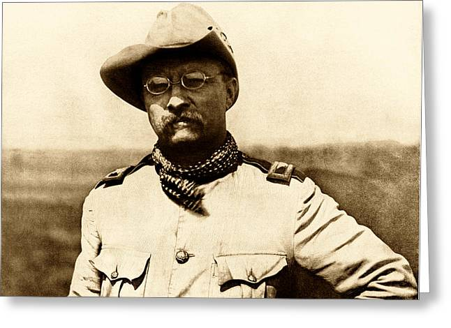Colonel Theodore Roosevelt Greeting Card by War Is Hell Store