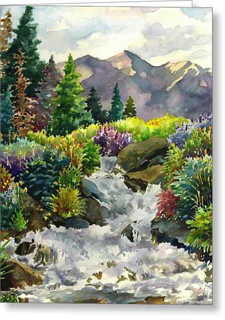 Colorado Waterfall Greeting Card
