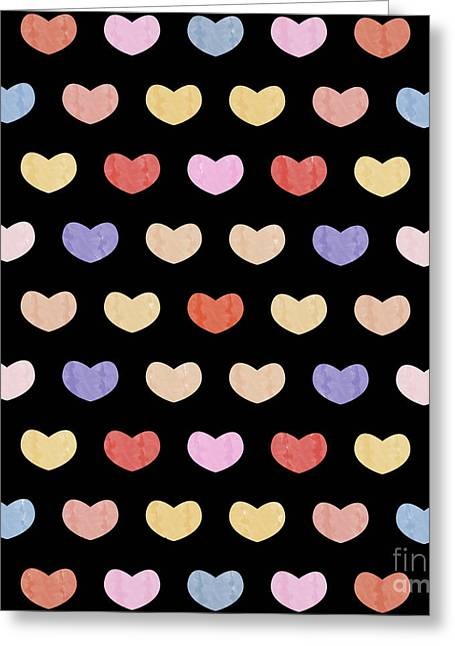 Colorful Hearts  Greeting Card