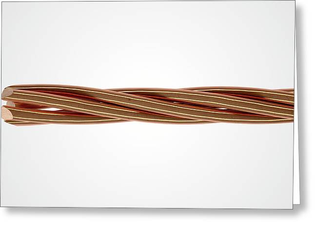 Copper Wire Strands Greeting Card by Allan Swart