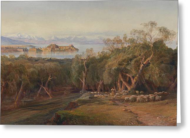 Corfu From Ascension Greeting Card
