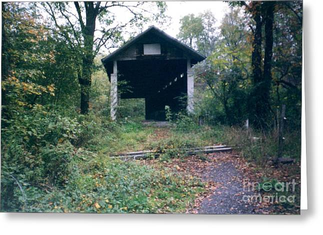 Covered Bridge In Pennsylvania Greeting Card by Ruth Housley