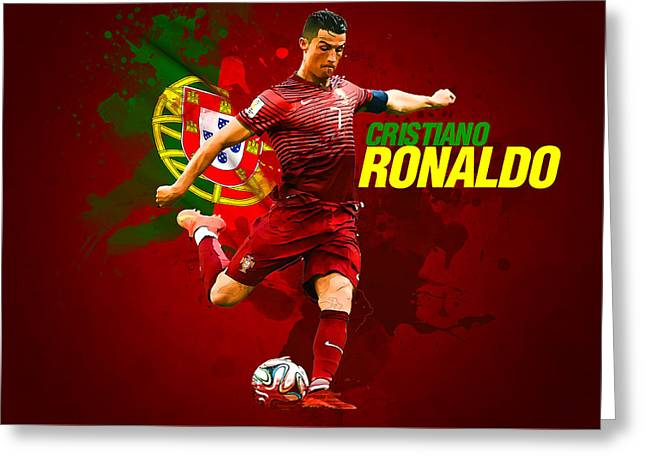 Cristiano Ronaldo Greeting Card by Semih Yurdabak
