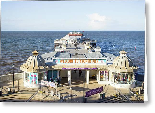 Cromer Pier Greeting Card by Tom Gowanlock
