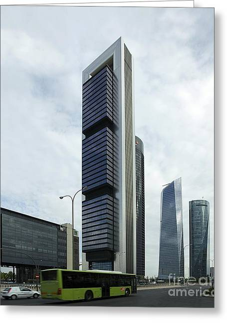 Ctba Skyscrapers, Madrid Greeting Card by Carlos Dominguez