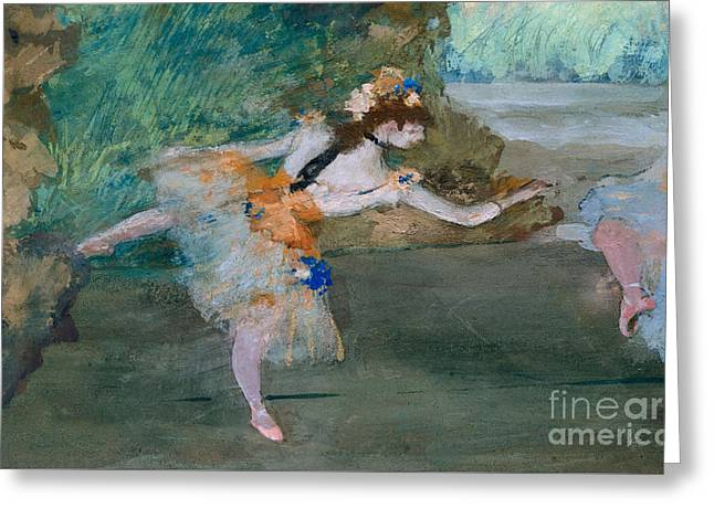 Dancer Onstage Greeting Card