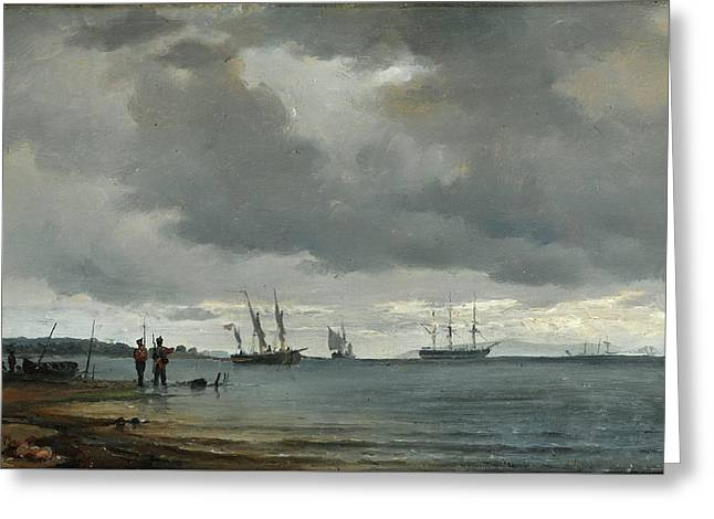 Danish Seascape Greeting Card by Carl Frederick