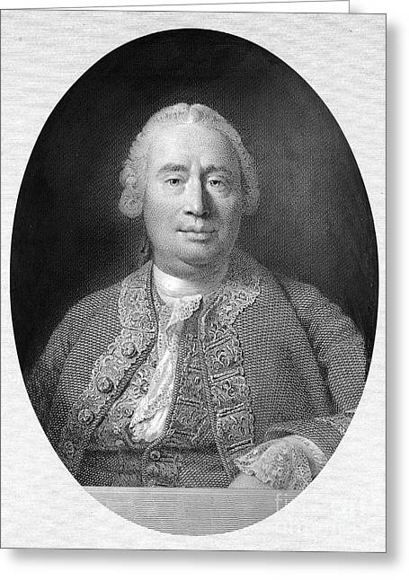 18th Century Greeting Cards - David Hume (1711-1776) Greeting Card by Granger