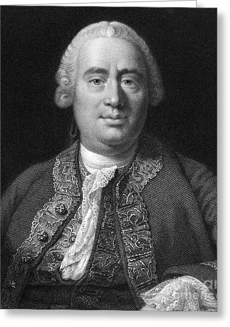 David Hume, Scottish Philosopher Greeting Card by Middle Temple Library