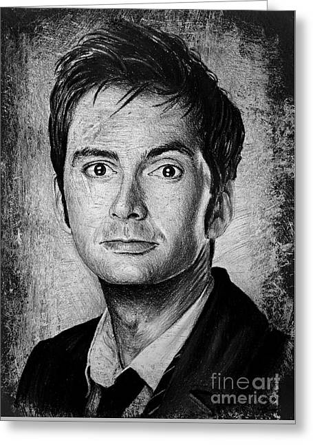 David Tennant Greeting Card by Andrew Read