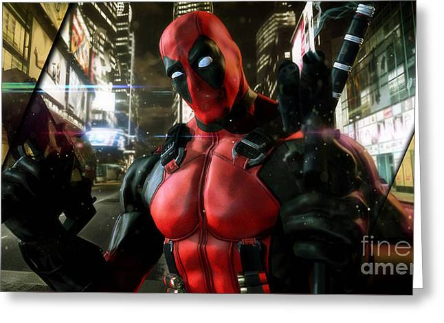 Deadpool Collection Greeting Card