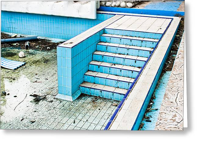 Derelict Swimming Pool Greeting Card