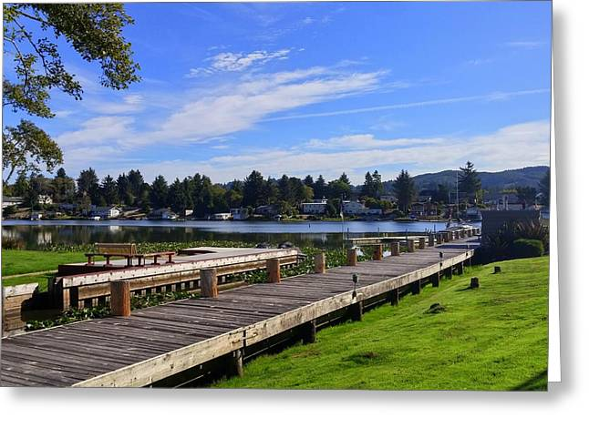 Devils Lake Oregon Greeting Card