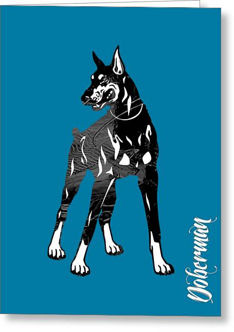 Doberman Pinscher Collection Greeting Card