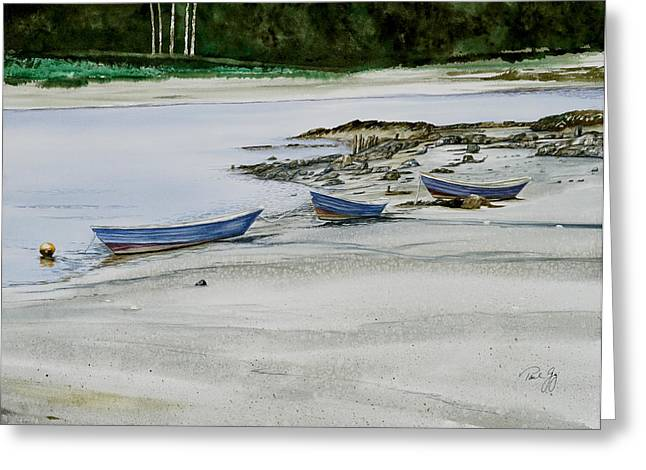 3 Dories Kennebunkport Greeting Card