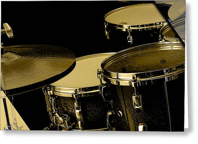 Drums Collection Greeting Card by Marvin Blaine