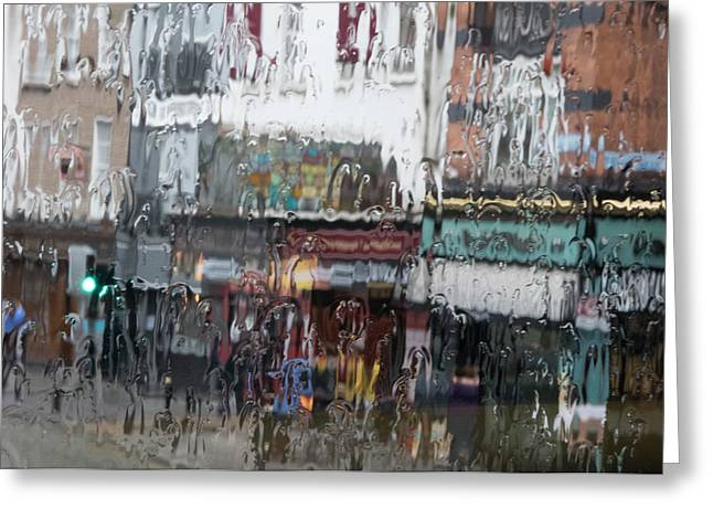 Greeting Card featuring the photograph Dublin In The Rain. by Rob Huntley