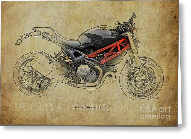 Ducati Monster 796 2013 Greeting Card