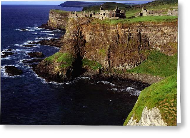Middle Ages Greeting Cards - Dunluce Castle, Co. Antrim, Ireland Greeting Card by The Irish Image Collection