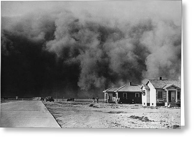 Dust Storm 1930s Greeting Card