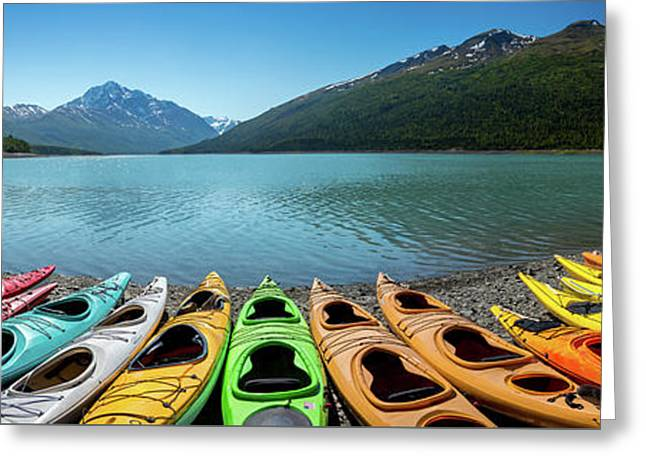 Eklutna Lake Alaska Greeting Card by Jon Manjeot