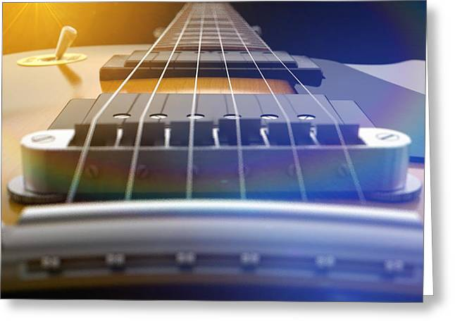 Electric Guitar Abstract Greeting Card