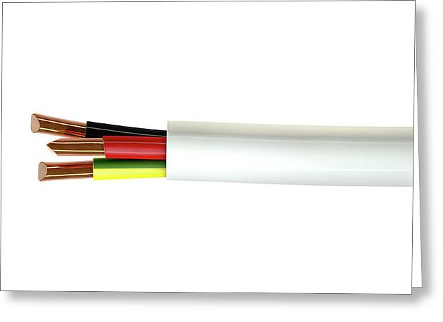 Electrical Cable Greeting Card by Allan Swart