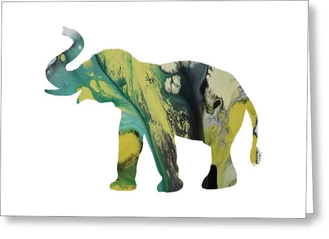 Elephant Greeting Card by Mordax Furittus