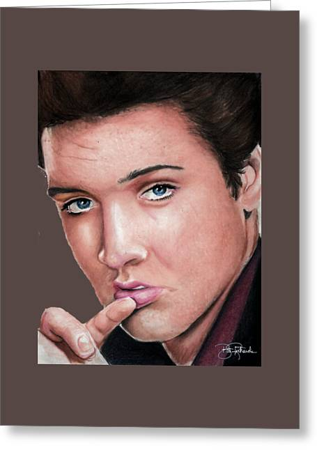 Elvis Greeting Card by Bill Richards