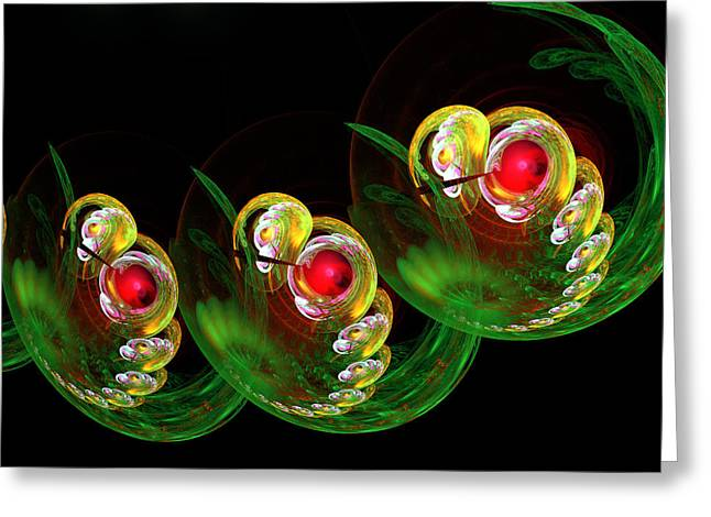 3 Embryos Greeting Card