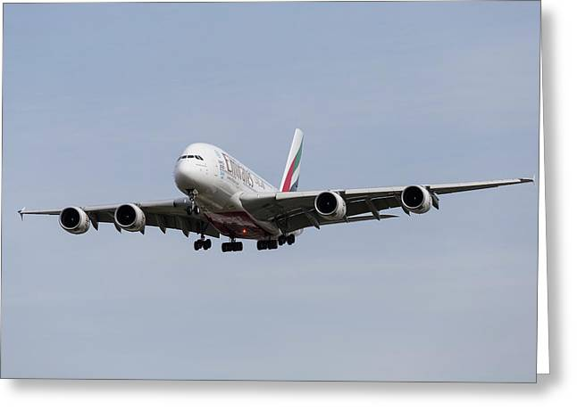 Emirates A380 Airbus Greeting Card