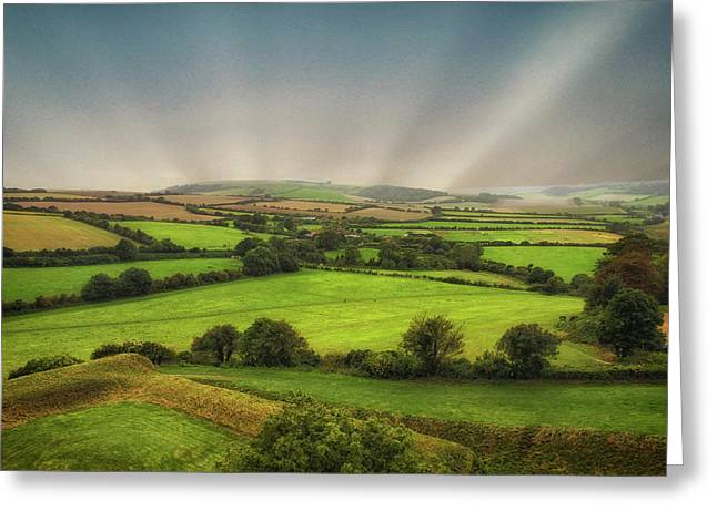 English Countryside Greeting Card by Martin Newman