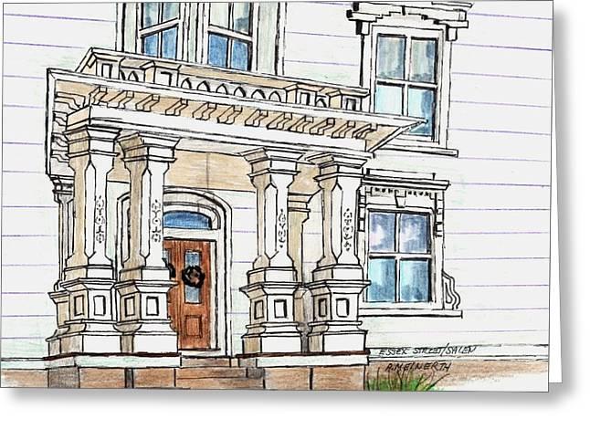 Essex Street Front Door Greeting Card by Paul Meinerth