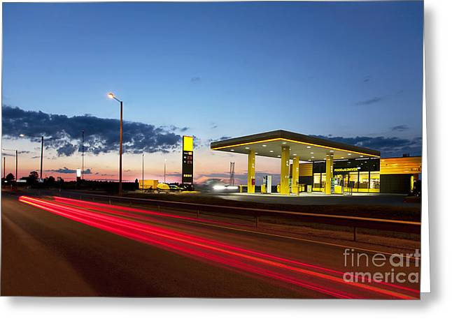 Estonian Gas Station Greeting Card by Jaak Nilson