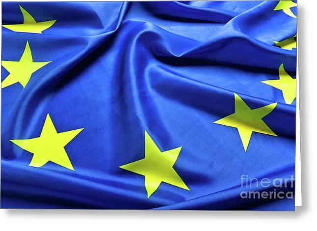 European Flag Background Greeting Card