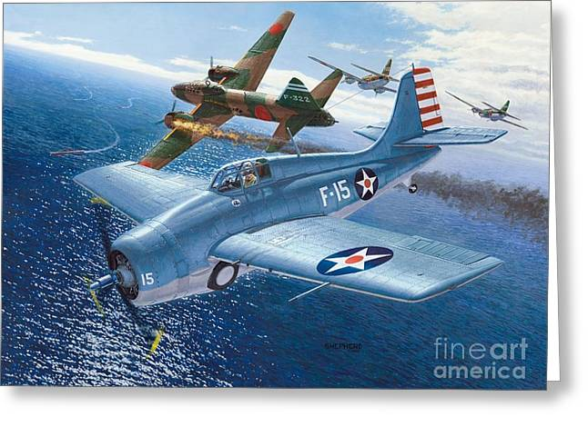 F4f Wildcat - Ohare Medal Of Honor Mission Greeting Card