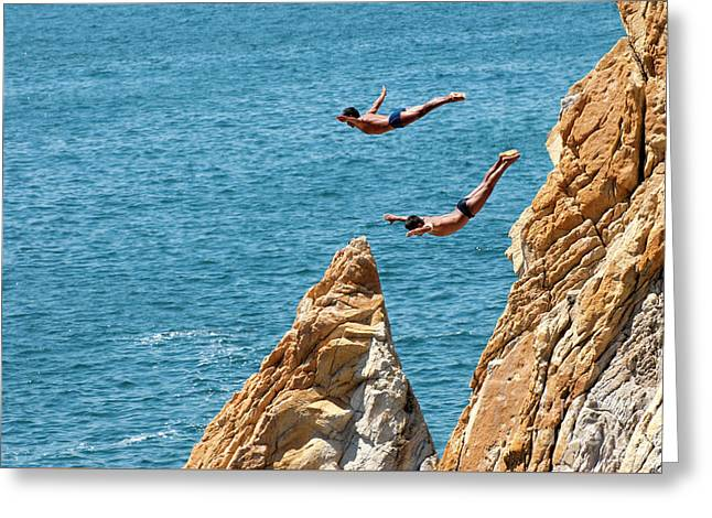 Famous Cliff Diver Of Acapulco Mexico Greeting Card