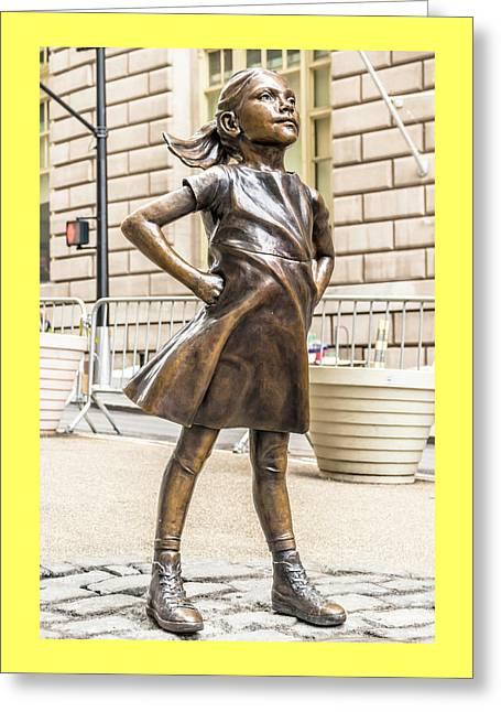 Fearless Girl - Wall Street Little Girl Greeting Card