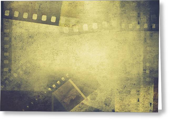 Film Frames  Greeting Card by Les Cunliffe