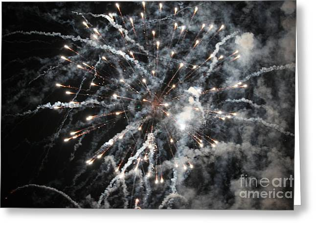 Fireworks Greeting Card by Diane Falk
