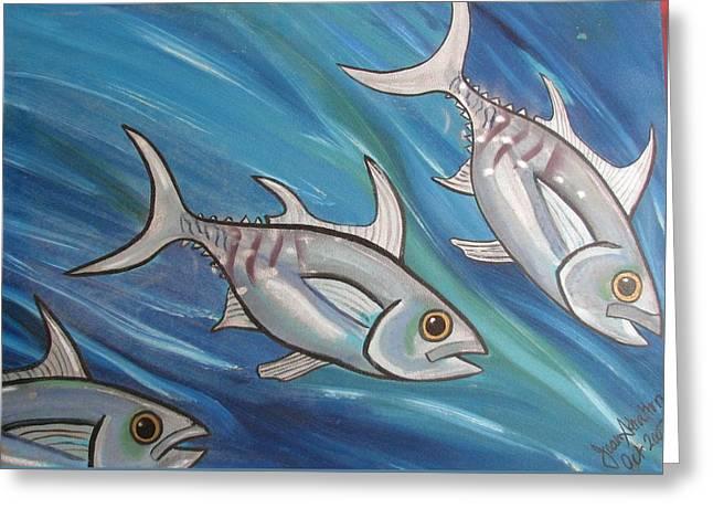 3 Fish Greeting Card