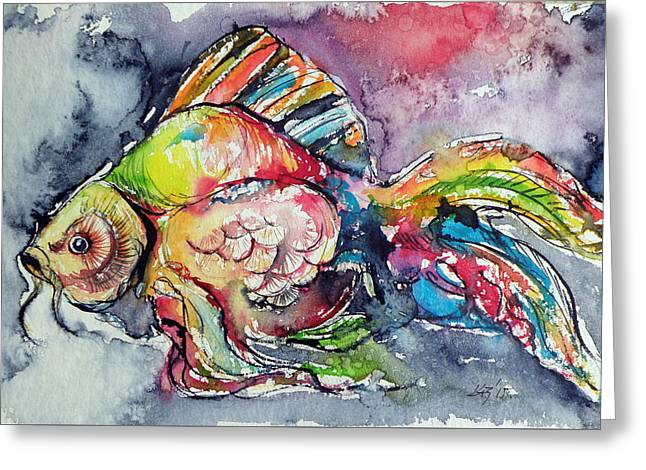 Fish Greeting Card by Kovacs Anna Brigitta