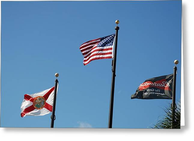 3 Flags Greeting Card by Rob Hans