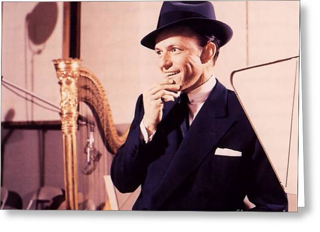 Frank Sinatra - Capitol Records Recording Studio Greeting Card by The Titanic Project