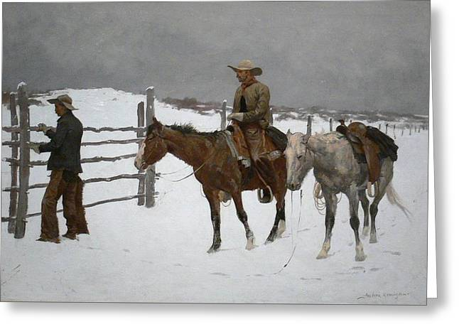 Frederic Remington Greeting Card by MotionAge Designs