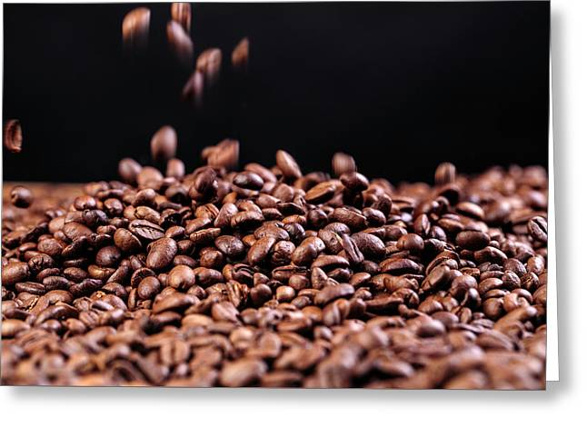 Fresh Roasted Coffe Beans Greeting Card