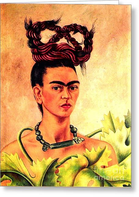 Frida Kahlo Self Portrait Greeting Card