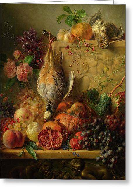 Fruit, Flowers And Game Greeting Card