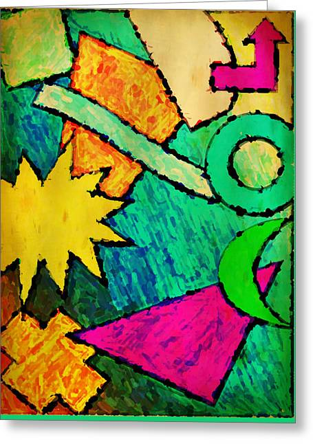 Funky Fanfare Greeting Card by Kyle West