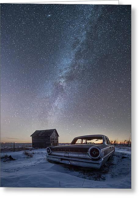 3 Galaxies  Greeting Card by Aaron J Groen